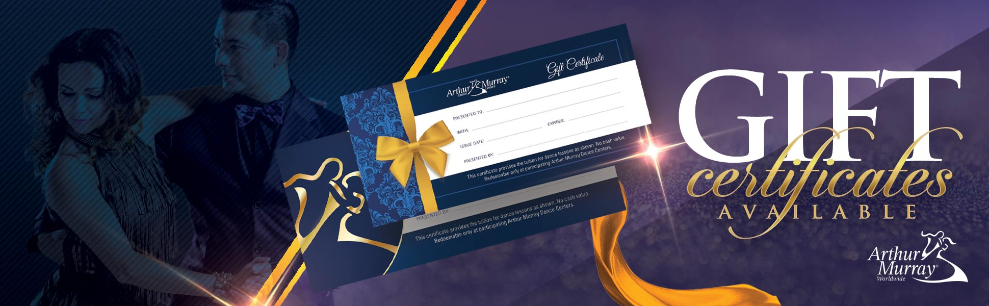 Dance Lesson Gift Certificate Banner